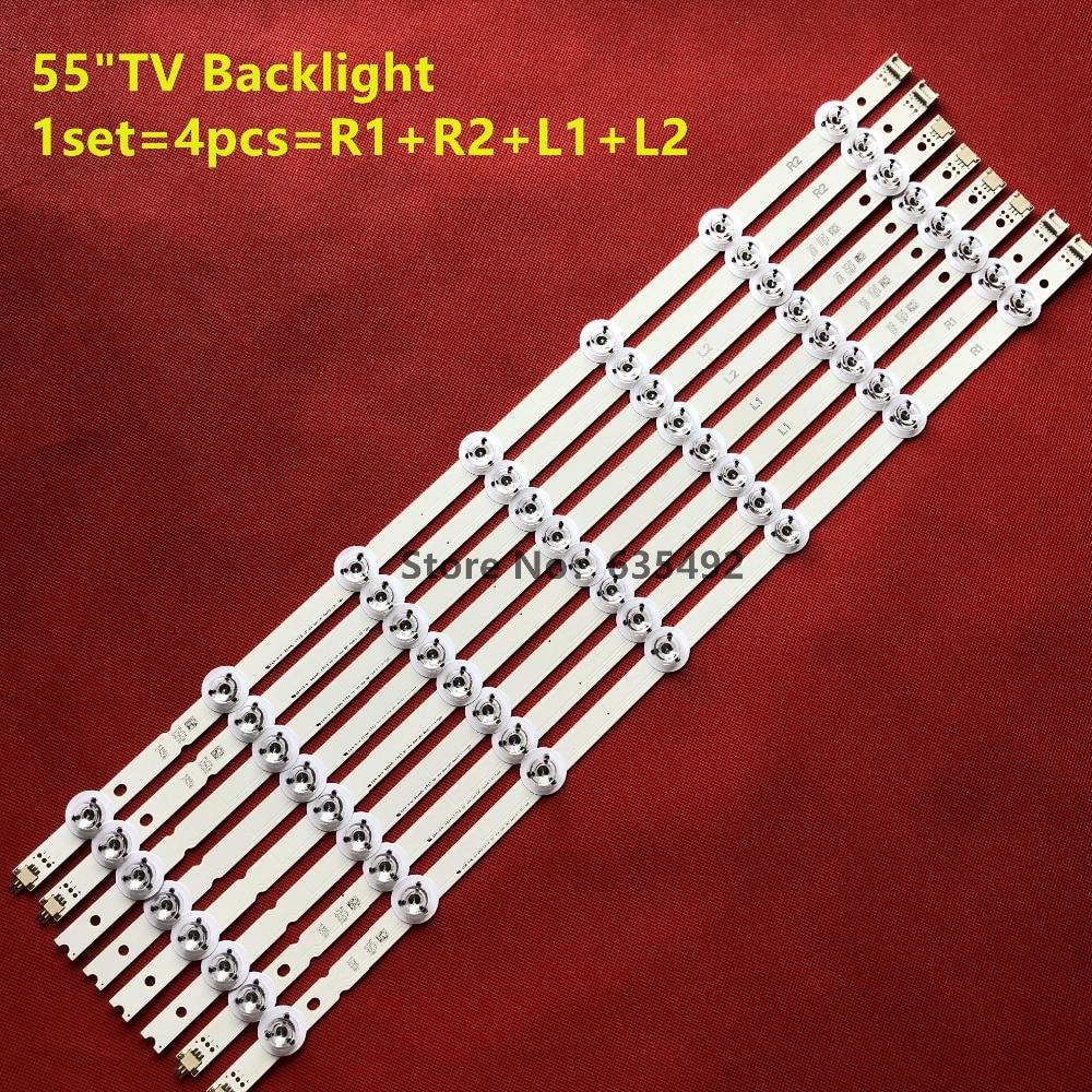12pcs Led Backlight Strip 6916l-1629a 6916l-1630b 6916l-1743b 6916l-1741a For Lg V14 Slim Drt Rev0.0 55lb7200 Lc550duh-pgf1 Computer & Office