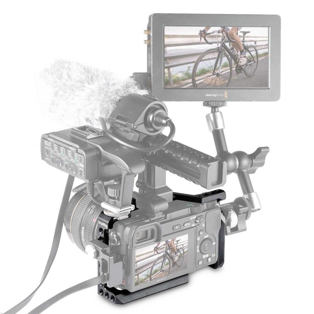 SmallRig Dslr Rig Cage pour Sony A6500/A6300 Caméra En Alliage D'aluminium Cage W/Arca Suisse QR plaque (mise à niveau version) -1889 - 5