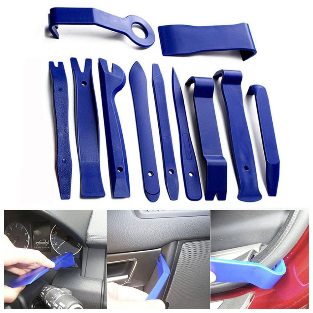 11Pcs Car Removal Kits Auto Interior Radio Panel Repair Tool Durable Door Clip Window Trim Removal Install Set