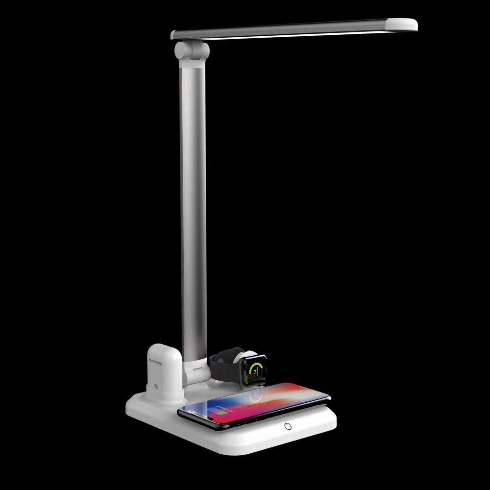 Kabym 4in1 LED chargeur sans fil pliable tactile interrupteur luminosité gradation lumière soins des yeux pour iPhone montre Pad pour Huawei
