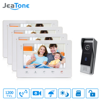 JeaTone Video Intercom 7 Touch Button Smart Indoor OSD Menu Monitor System Doorbell With Camera Remote