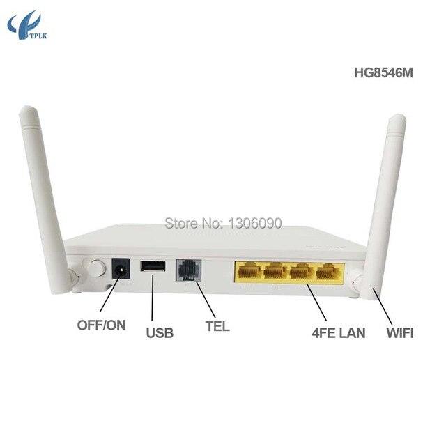 US $28 0 |(1GE+3FE) Huawei HG8546M GPON Terminal ONU, HGU Route Mode , 4  lan port + 1 telephone +1 wifi for MA5600/MA5680/MA5608T/MA5683T-in Fiber