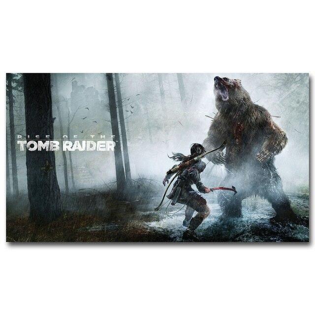 Шелковый плакат гобелен игра Tomb Raider Лара Крофт