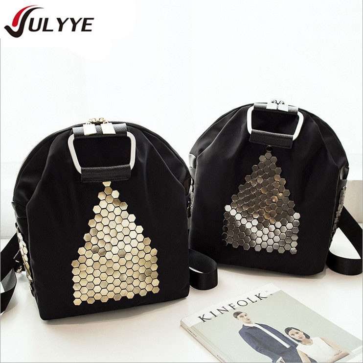 YULYYE New Fashion Backpack High Quality Women Bag Gold / Silver Sequins Multi-purpose Band Backpack Teenager Girl Travel Bag
