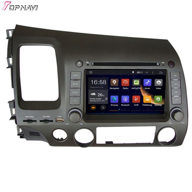 7 ''Quad Core Android 5.1 GPS Del Coche Para CIVIC dejó conducir 2006 2007 2008 2009 2010 2011 para honda con stereo radio envío gratis