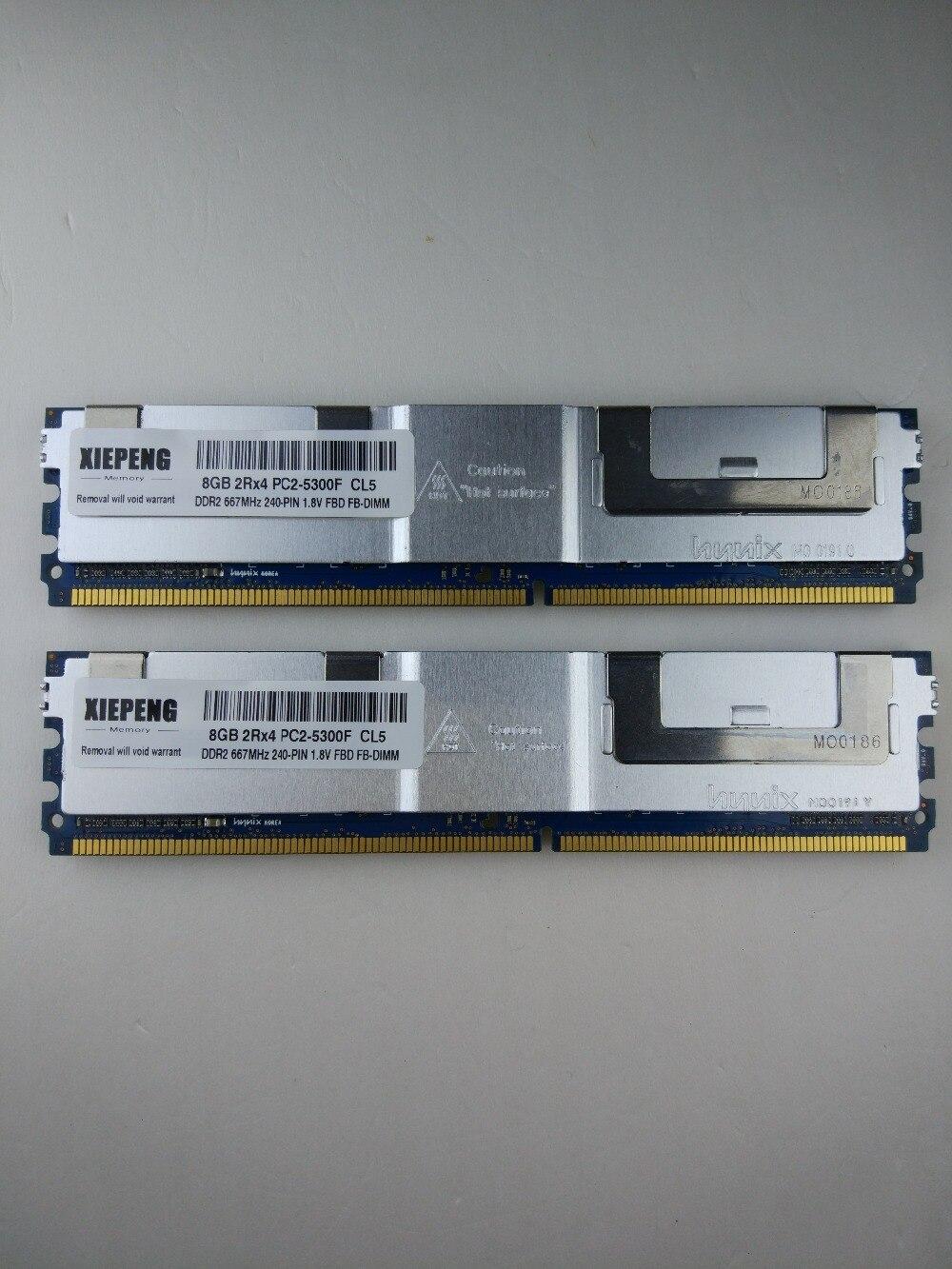 64GB 8X8GB 4Rx4 PC2-5300F DDR2-667MHz 240pin ECC FB-DIMM Server Memory RAM
