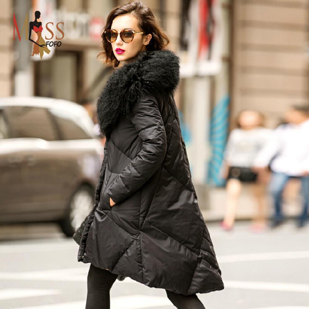 90% Duck down 2015 new winter women's Elegant Feminine down jacket ...