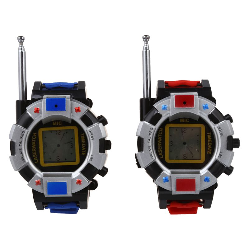 2PC Children Toy Walkie Talkie Child Wrist Watches Interphone Outdoor ...