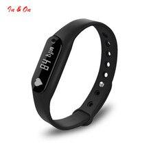 Bluetooth 4.0 пульсометр Шагомер фитнес-трекер SmartBand oled-дисплей браслет монитор сердечного ритма браслет