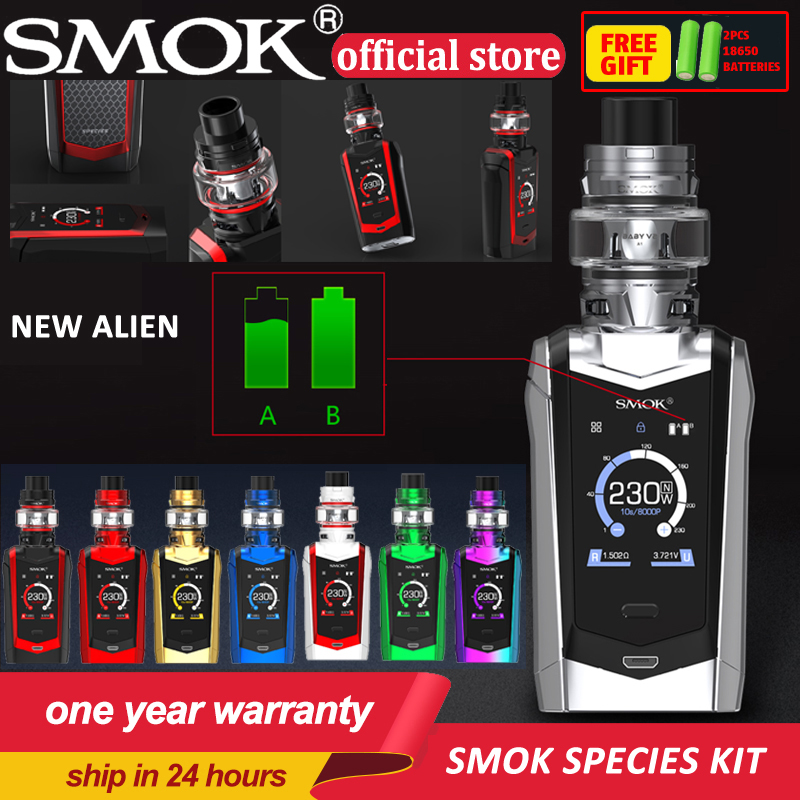 SMOK Species 230W electronic cigarette kit Touch Screen TC with 5ml TFV8 Baby Version 2 Tank