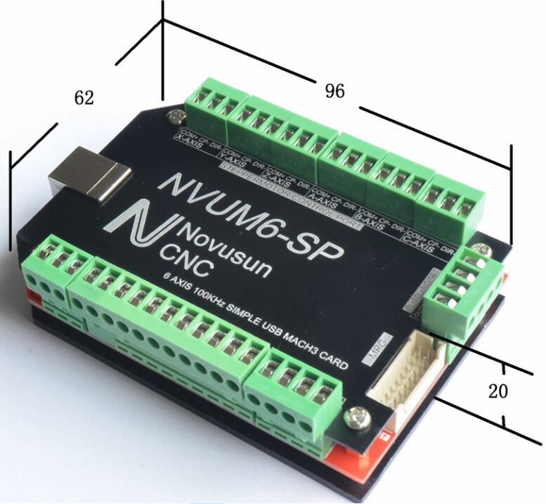 Драйвер шагового двигателя, 6 осей, 100 кГц, шесть осей, разделочная Плата USB MACH3, USBCNC, Интерфейсная плата для гравировального станка с ЧПУ