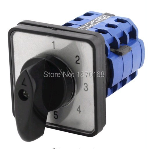 цена на LW39B-16/11111J.3 5 Position Universal Rotary Cam Changeover Switch AC 660V 16A.