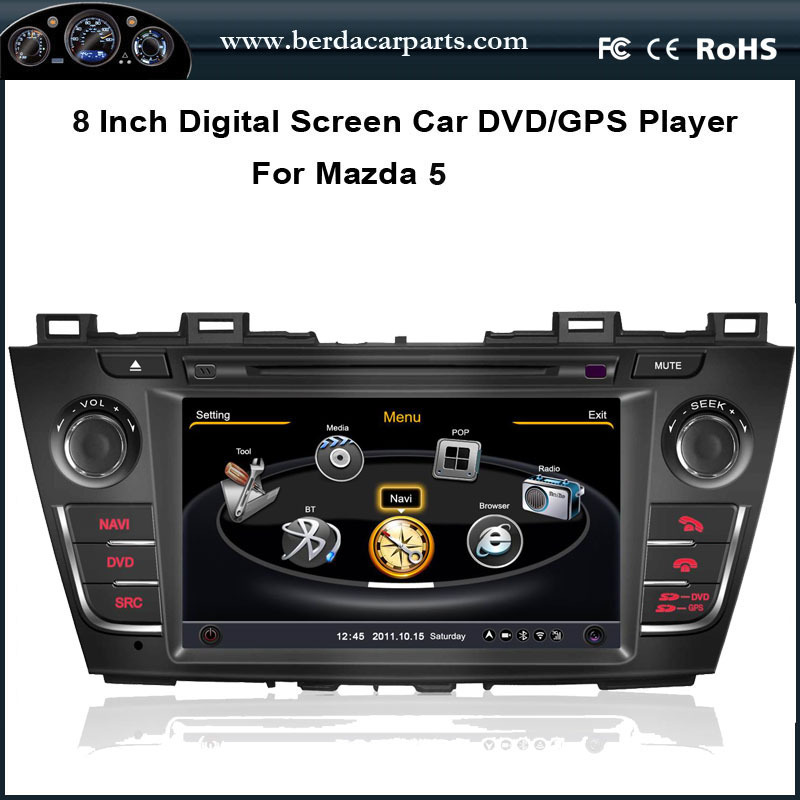 Car Radio For Mazda 5 With Stereo GPS 1G CPU 3 Zone POP Bluetooth RDS USB/SD Free map
