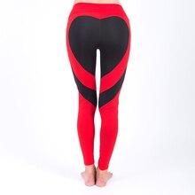 Hot Heart Hips Leggings Women Fitness Yoga Pants High Waist Elastic Sport Leggings Gym Sportswear Female