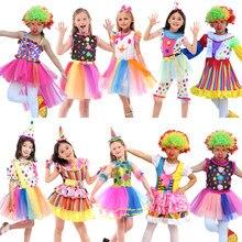 Darmowa wysyłka kostium klauna s dzieci chłopcy dziewczęta klaun cyrkowy kostium Fancy Fantasia Infantil Cosplay dla dzieci Party element ubioru