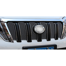 Car Stainless Steel Front Grille Decoration Cover Trim Stickers 6Pcs/set For Toyota Land Cruiser Prado J150 FJ150 2014 2015 2016