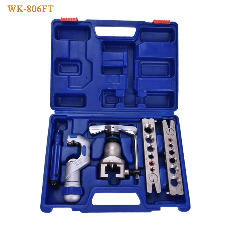 WK-806FT pipe flaring cutting tool set ,tube expander, Copper tube flaring kit Expanding scope 5-19mm цены онлайн