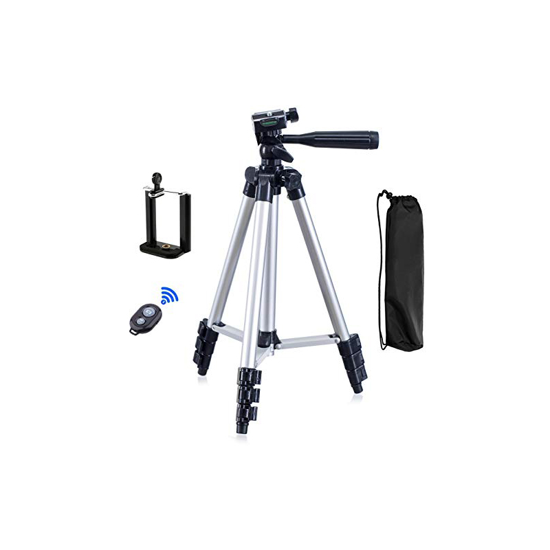 Kaliou Camera 3110 Tripod Stand Mobile Phone Mini Portable Aluminum 3 in 1 Camera Tripod with Phone holder with Remote Shutter