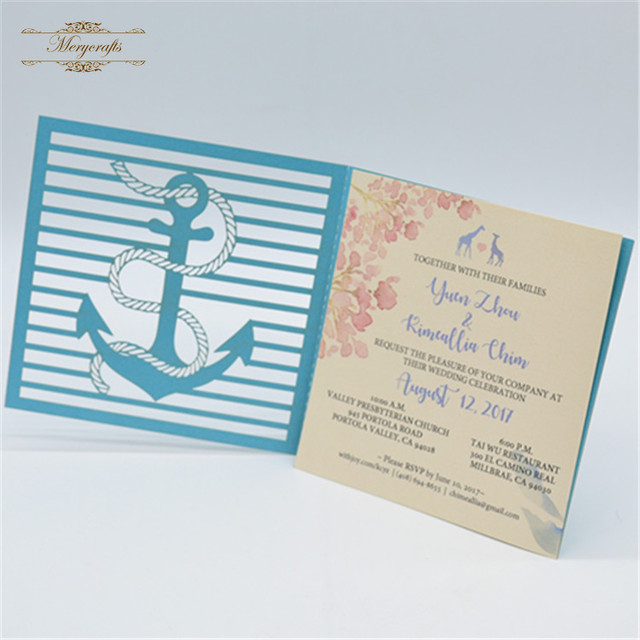 muslim wedding cards china supplier wedding decoration tiffany blue laser cut wholesale - Muslim Wedding Cards