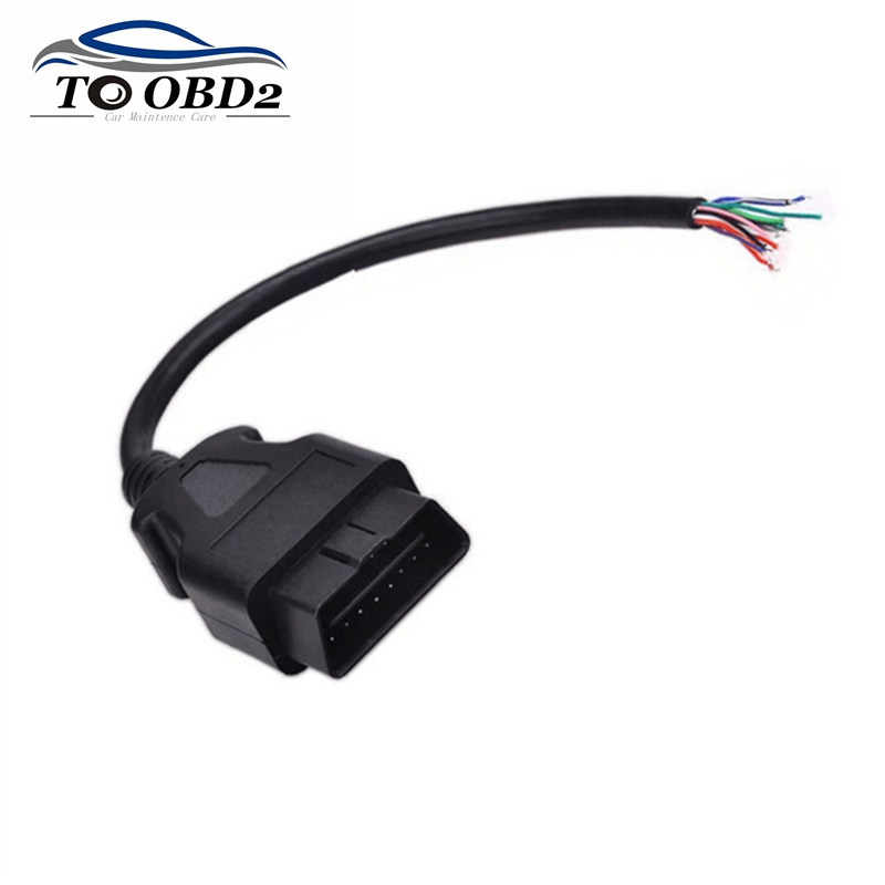 30CM 16 Pin Car Diagnostic Interface Tool Adapter OBDII OBD 2 OBD2 16pin Male Connector To Extension OBD 2 Opening OBD Cable
