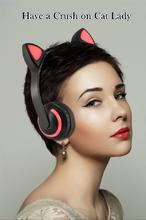 DSstyles Wireless Bluetooth Stereo Cute Animal Ear Design Headphones Flashing Glowing Gaming Headset все цены