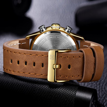 NAVIFORCE Fashion Leather Gold Men Sport Watches Mens LED Analog Digital Watch Army Military Quartz Watch Relogio Masculino 9144