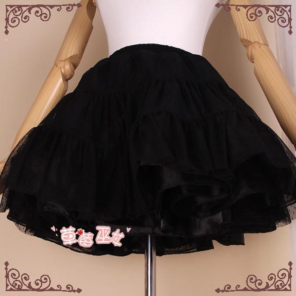 Trumpas Pettiskirt Rokability Lolita Petticoat linija iš braškių - Moteriški drabužiai - Nuotrauka 3