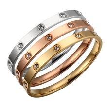 Позолоченные браслеты для влюбленных и женщин цвета розового