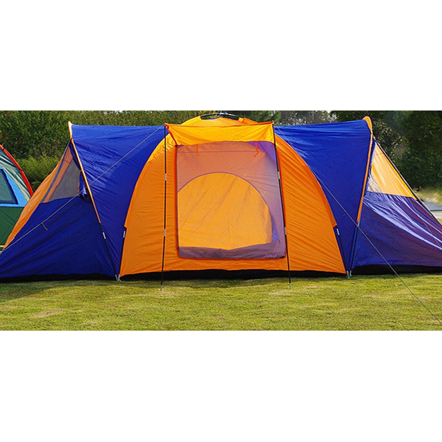 High Quality 9 Person Large Space Outdoor Waterproof Camping Tent 3 Room 1 Hall Mosquito Net Family Tents for Party Low Price