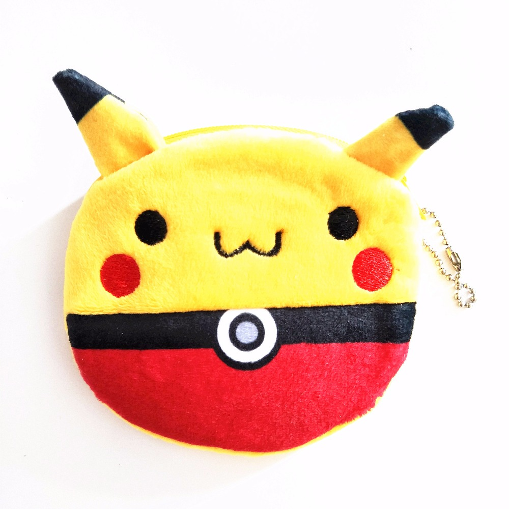 M263 Cute Cartoon Pocket Monster Plush Zero Wallet Peccatte Chuib Elf Ball Zero Card Bag Girl Women Student Gift Wholesale
