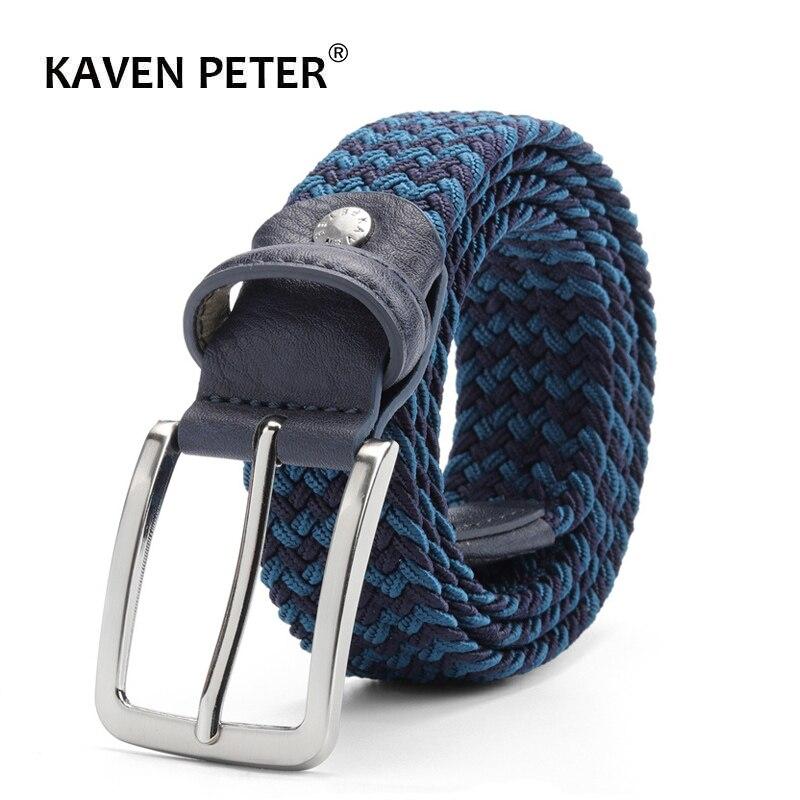 Men Elastic   Belt   Striped Women Stretch   Belt   For Unisex Knitted Braided Long   Belt   Extend 160 CM   Belt   Factory Directly Price