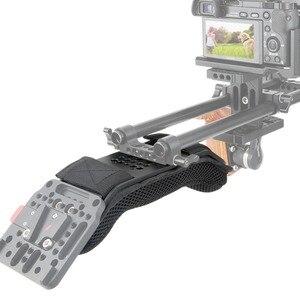 """Image 5 - NICEYRIG DSLR Omuz Rig Kamera Rig Omuz Sabitleyici Omuz Desteği Video Rig Kamera Video Kafes Sünger Ped 1/4 """"DSLR 3/8"""""""