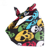 LEAYH Brand Hip Hop Cashew Flower Skull Printed Cotton Square Scarf Variable Outdoor Dance Scarves Head Bands 55*55cm