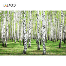 Laeacco Spring Forest Trees Landscape Photography Backgrounds Customized Photographic Backdrops For Photo Studio