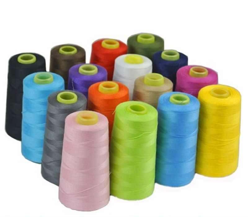 17 Colors 3000 Yards Overlocking Sewing Machine Industrial Polyester Thread Metre Cones