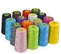 17 цветов 3000 ярдов оверлок швейная машина Промышленные полиэфирные нити метр конусы