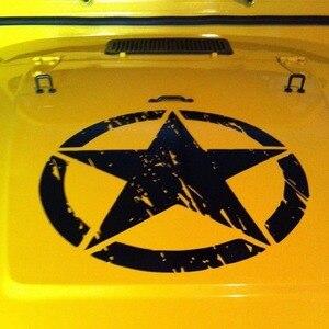 """Image 3 - Neue Armee Stern Distressed Aufkleber Große 16 """"Ca. Vinyl Military Haube Grafik Körper 40CM Aufkleber Passt Für Jeep mode Kühlen #274981"""