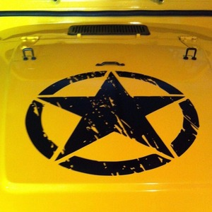 """Image 3 - New Army Star Distressed Decal Large 16"""" Approx Vinyl Military Hood Graphic Body 40CM Sticker Fits For Jeep Fashion Cool#274981"""
