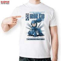 The Invincible Iron Kid T Shirt Design Awesome Robot Hero T Shirt Cool Novelty Funny Tshirt
