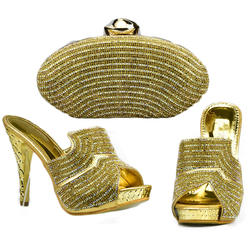 Décoré Pour gold Avec Vente Nigérian Femmes Ensemble black De Mariage Sur Glissement Strass Chaussures Blue sliver purple Et Sac fuchsia À Assortir v0wyPmN8On