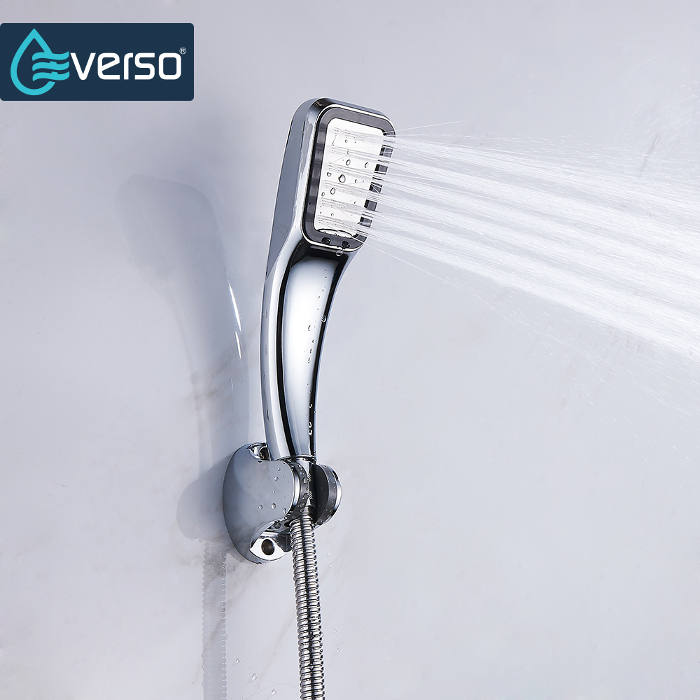 EVERSO 300 Holes High Pressure Shower Head Water Saving Rainfall Chrome Shower Head Bathroom Square Spray Nozzle Head