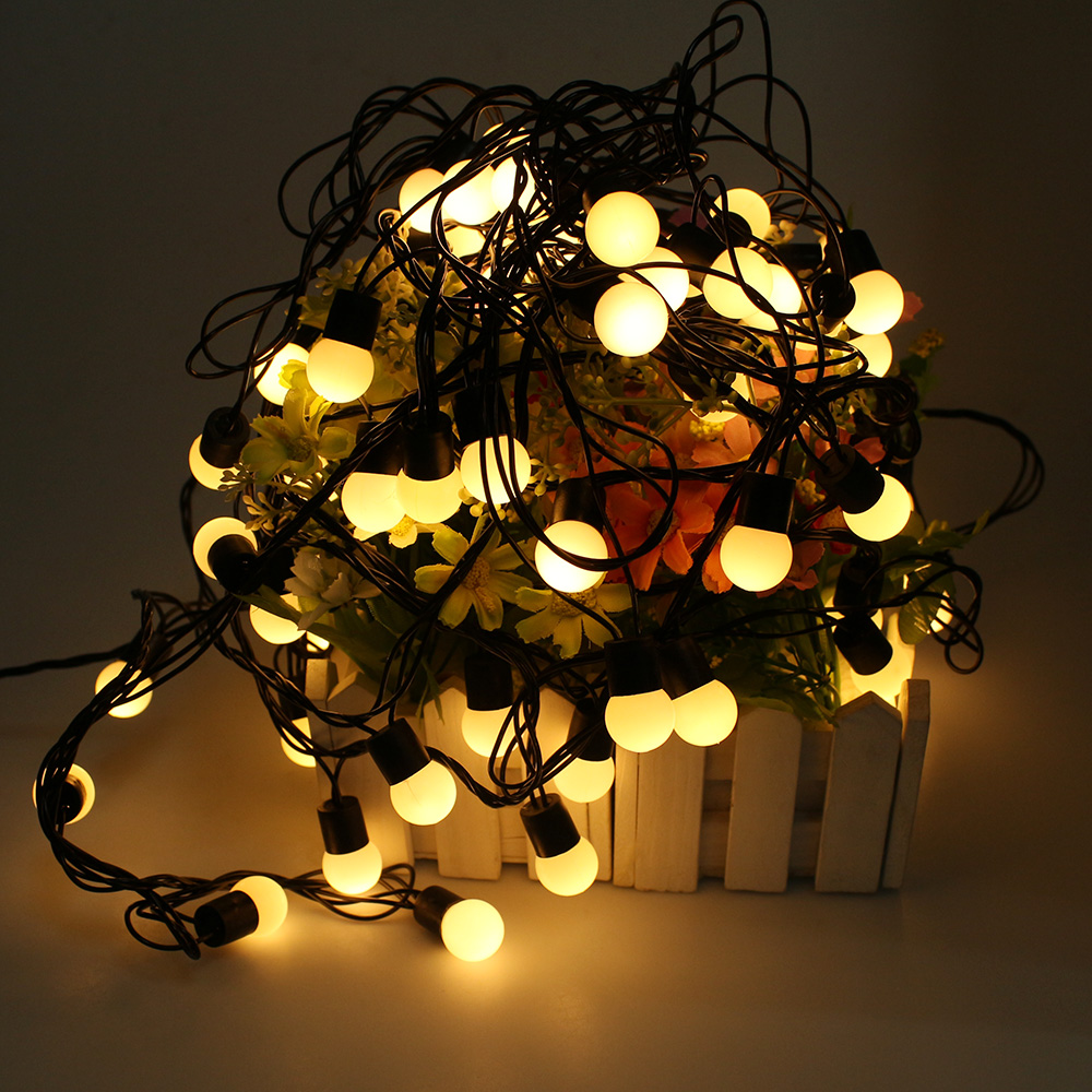 Indoor globe string lights - 10m 72 Led Globe Ball Fairy String Lights Christmas Lights For Indoor Garden Home