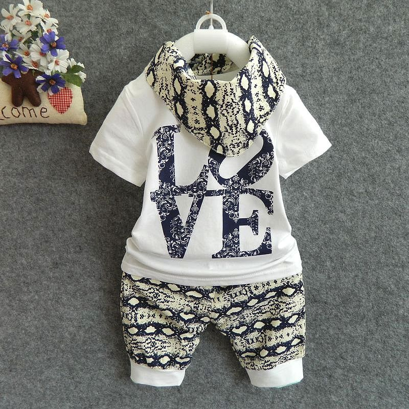 2Pcs Summer Baby Boy Clothing Set Cotton Baby Clothes Newborn Baby Clothes Roupas Bebe Letter Shirt Pants Infant Clothing Sets 2pcs set baby clothes set boy