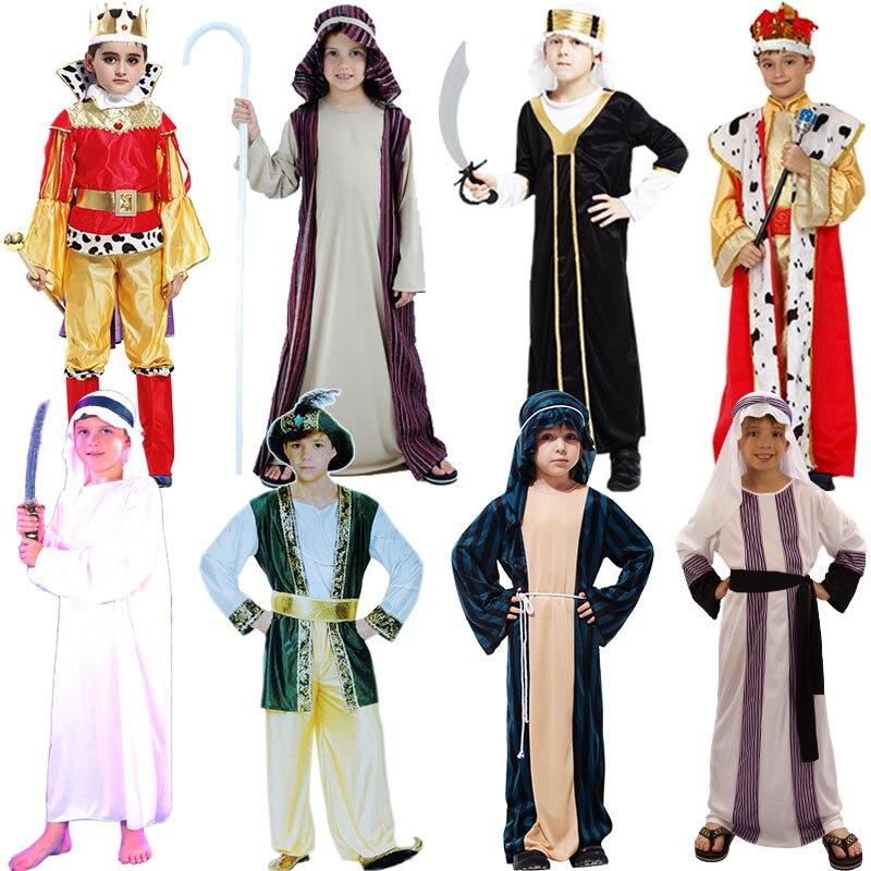 Kinderen Jongens Arab Prins King Kostuums Kinderen Midden-Oosten - Carnavalskostuums