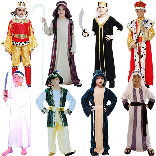 Arab Costume Middle East Clothing Cosplay Carnival Halloween Costumes for Kids Christmas Birthday Party