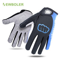 New Unisex Cycling Gloves Men Sports Full Finger Anti Slip Gel Pad Motorcycle MTB Road Bike
