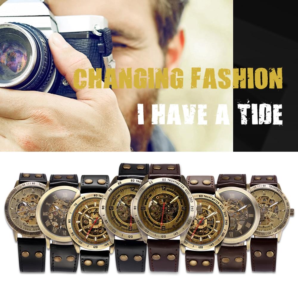 Watches ... Men's Watches ... 32609076570 ... 5 ... Skeleton Mechanical Watch Automatic Watch Men Steampunk Bronze Transparent Mens Automatic Mechanical Wrist Watches Clock for Man ...