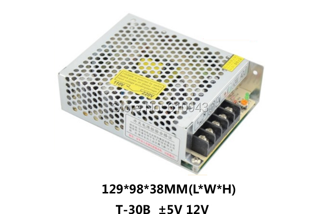 ФОТО T-30BFree Shipping60W MINI triple Output Switching power supply Output Voltage 5V 12V -12V AC-DC T-30B