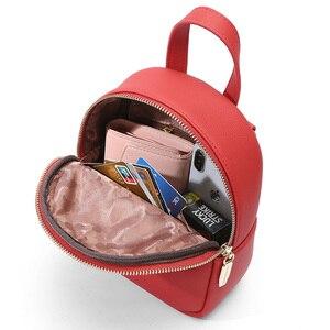 Image 2 - Weichenデザイナーファッション女性バックパックソフトレザー女性スモールバックパック女性のショルダーバッグmochilaバックパック 2020 bagpack
