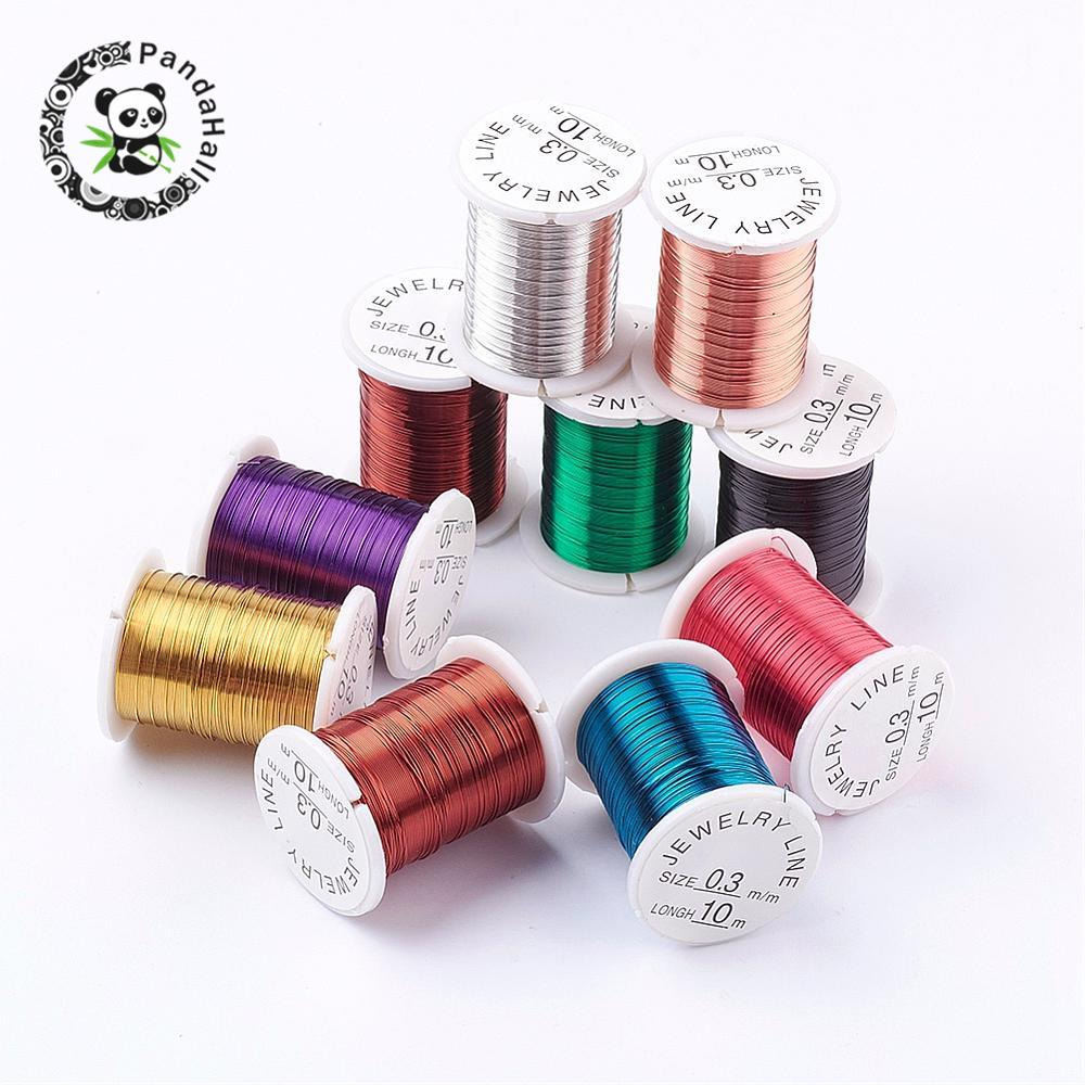 1 Box Strong Nylon Cord Thread with Plastic Spools for Sewing Mixed Color 0.1mm